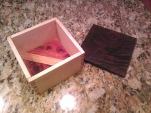 Box 11 Maple and Black Walnut - A