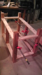 Frame clamped